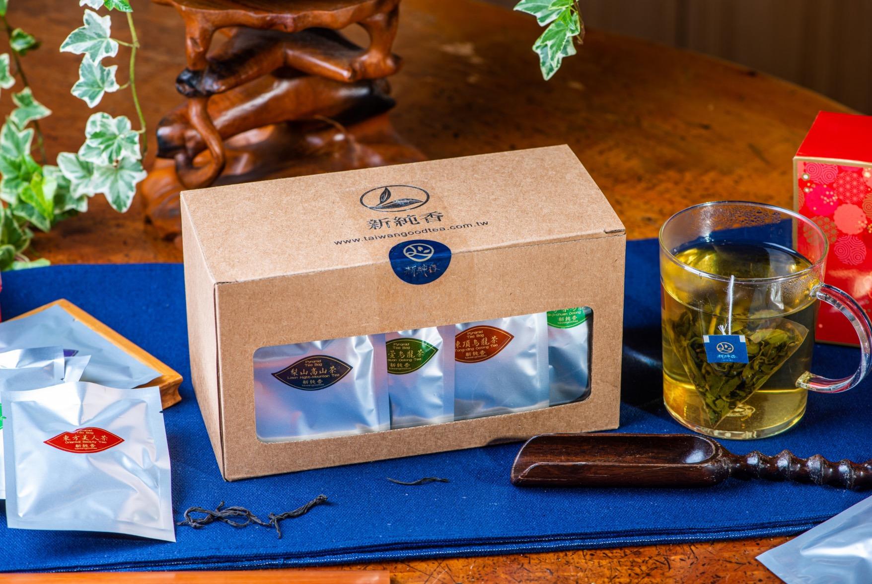 三角茶包禮盒組/八種口味--新純香特製三角立體茶包