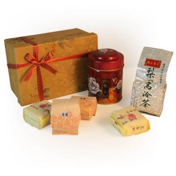梨山茶極上茶王(50g入罐)手工茶點禮盒