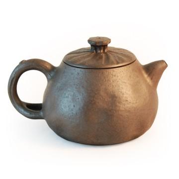 [陶作坊]滿心壺~黑陶