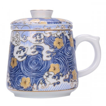 陶瓷馬克杯-滿彩描金