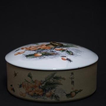 陶罐-百花圖多用途罐