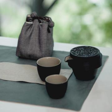 樂活陶器 【寶馬奔馳旅行組  】一壺兩杯搭配壺袋 好評推薦