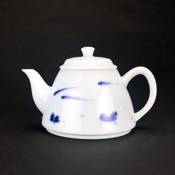 陶瓷 茶壺 游魚出聽