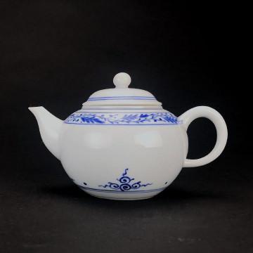 陶瓷 手繪茶壺 唐草紋