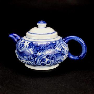 陶瓷 手繪茶壺 年年有餘