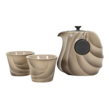 樂活陶器 御風自在茶組(一壺二杯)