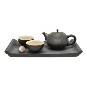 樂活陶器 【書香品茗茶禮 】一壺兩杯茶托 精緻茶禮