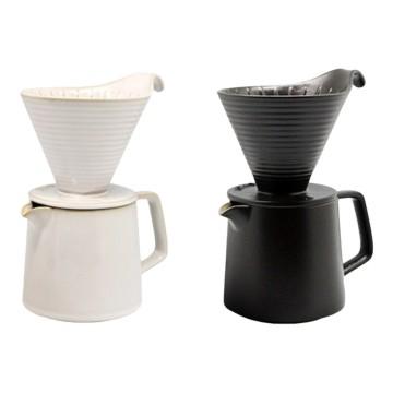 樂活陶器 【悠享咖啡滴濾套組】滴濾+咖啡壺