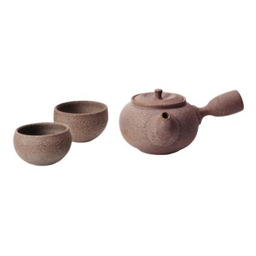 樂活陶器  原礦側把壺茶組