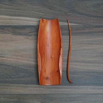 擺渡  茶則  台灣頂級木頭+天然生漆