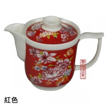 台灣 牡丹花 陶瓷 茶壺