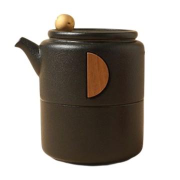 樂活陶器 凝月隨手泡 一壺一杯+旅行便攜包