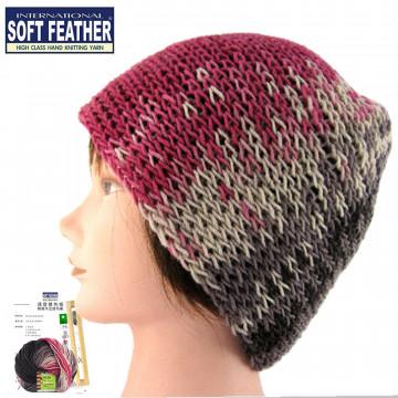 毛線DIY材料包-瑪登雙色帽