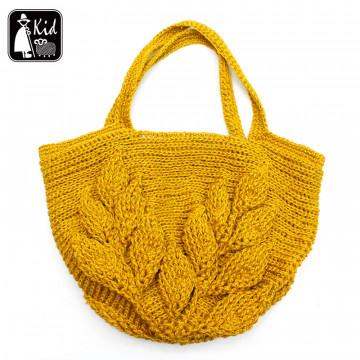 夏紗DIY材料包-義大利麻線 艷夏葉片提袋 (教學費$800)