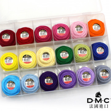 法國進口DMC8號繡線-亮線色系組合(送收納盒)