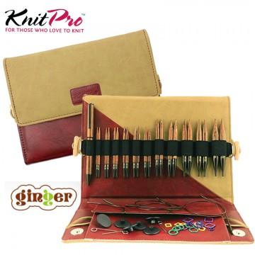 KnitPro Ginger系列-褐木可換頭輪針組 (40/50cm)