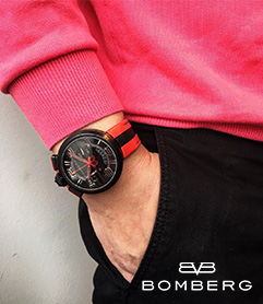 BOMBERG 炸彈錶 │FIXED 1968 MEN_黑紅Luxury Tech 御立精品