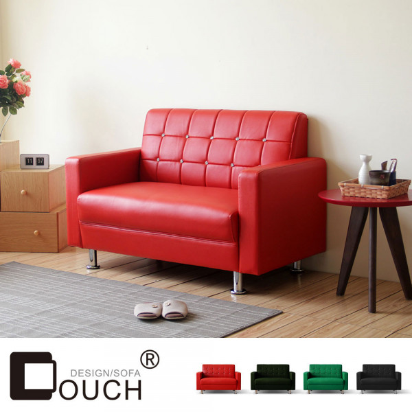 【COUCH】巧克雙人座皮沙發(4色)