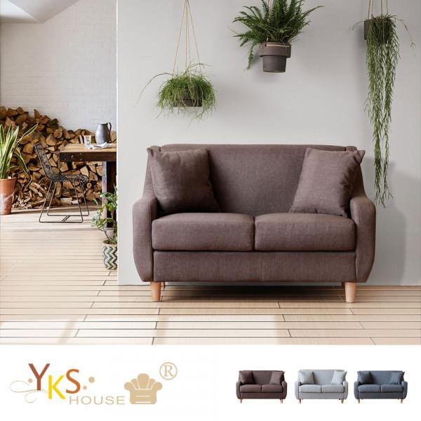 【YKS】加藤二人座布沙發-獨立筒版(3色)