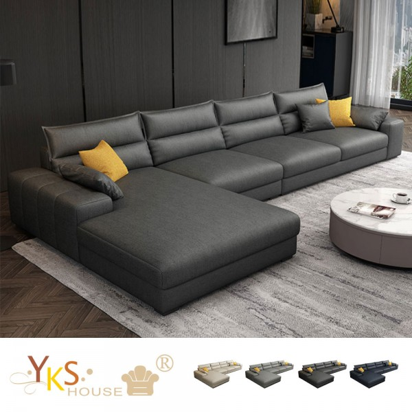 售價已折!YKS-傑尼斯L型布沙發-獨立筒版(四色可選)