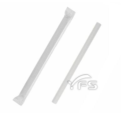 紙包紙吸管-平口 12*200mm(白)