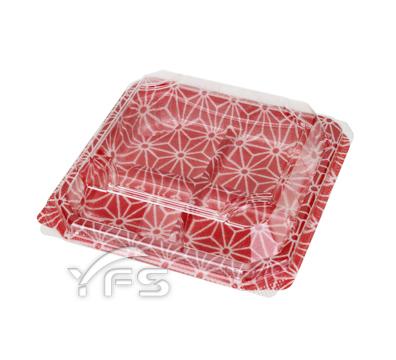 APW-4-2對折盒(紅色幾何紋)