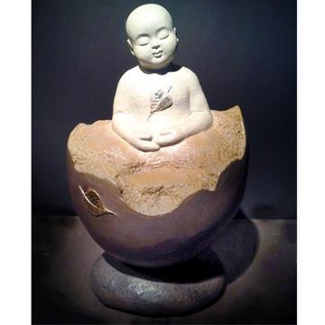 無舍老師 限量原作銅雕~誕生菩提-善財童子