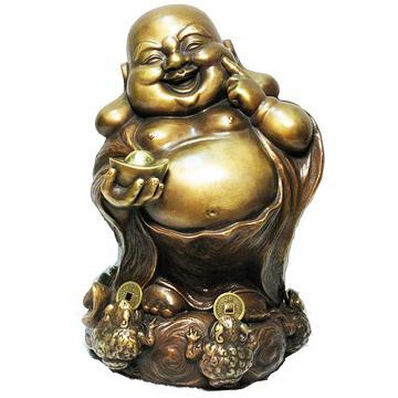 【五方進財.笑彌勒】咬錢蟾蜍 財神 彌勒佛銅雕