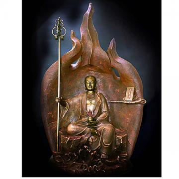 林韋龍(林宇坤)  限量原作銅雕~焱光之藏 (地藏王菩薩)~~(大件)