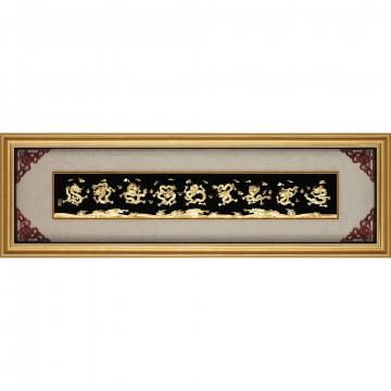 金箔畫 黃金畫純金*精緻系列*純金九龍圖 ~【九龍圖】... 150x 48 cm~大降價