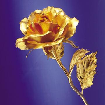 黃金金箔花 純金玫瑰花/康乃馨 情人節 母親節禮物