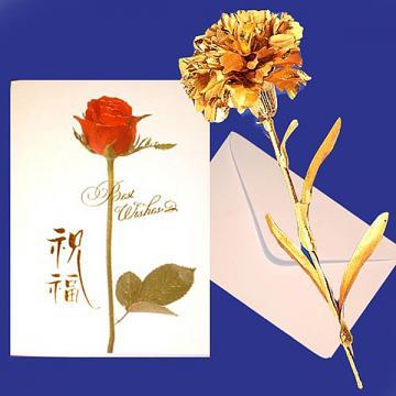 黃金  康乃馨 贈精美卡片 母親節禮品