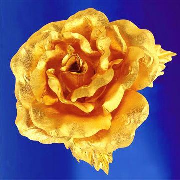 黃金花 純金 玫瑰胸針 情人節 母親節禮物
