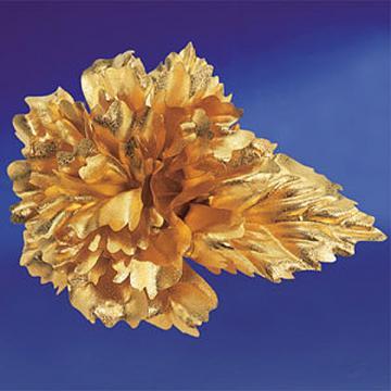 黃金金箔花 純金康乃馨胸針 母親節禮物
