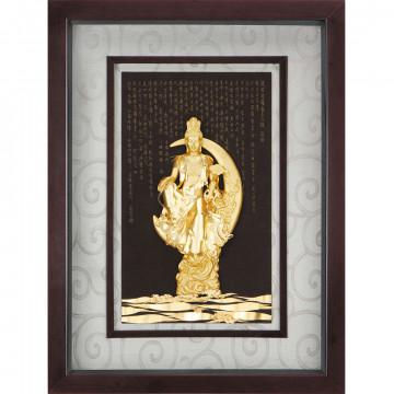 金箔畫 黃金畫純金*精緻系列* 【水月觀音】...69x107cm~大降價促銷中!