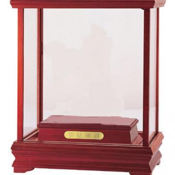 原木玻璃框盒 玻璃箱訂作