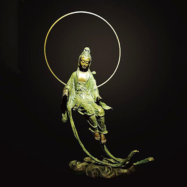 子問老師 限量原作 銅雕 ~水月悠揚 水月觀音(觀世音菩薩)
