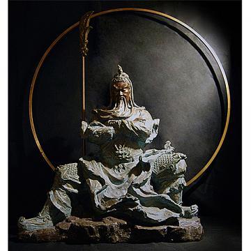 林韋龍(林宇坤) 限量原作銅雕~王者風範 (關公)~~(非常大件)