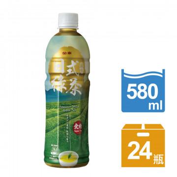 金車日式風味綠茶(無糖)580ml(24罐/箱)