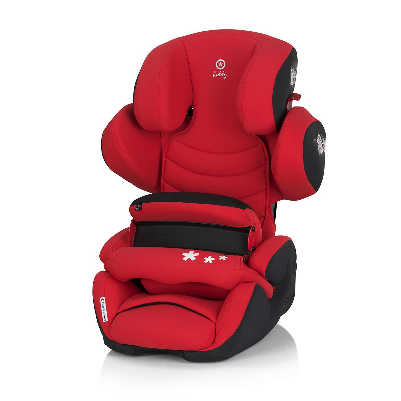 奇帝kiddy可調式汽車安全座椅-辣椒紅(含前置護體)
