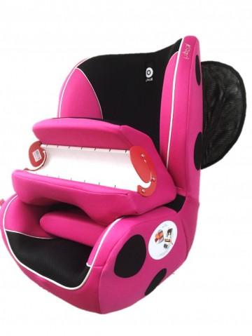 奇帝kiddy甲殼蟲汽車安全座椅 - 花蕊粉 加贈奇帝冷暖坐墊