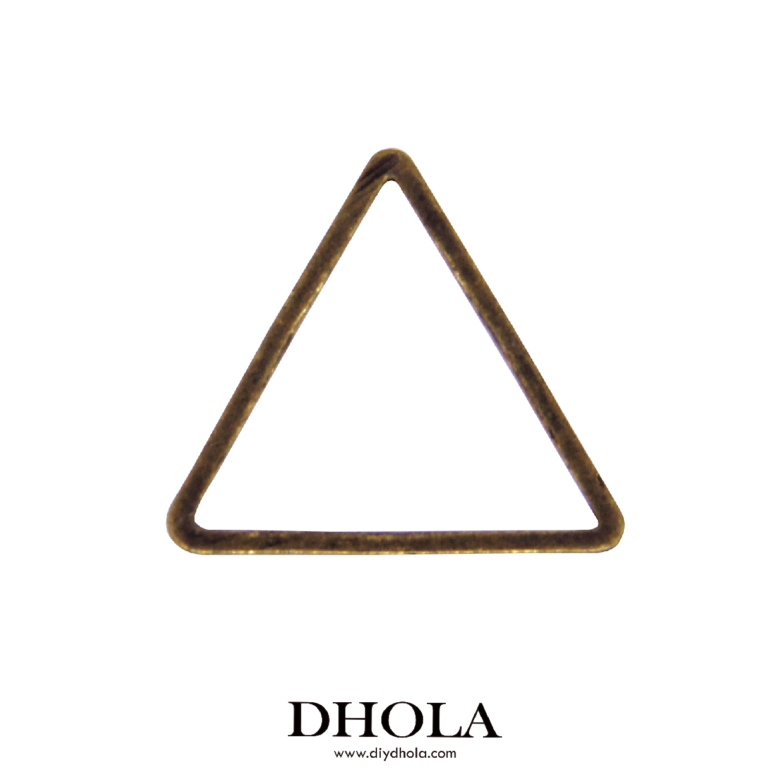 銅切管正三角形 - 青古色