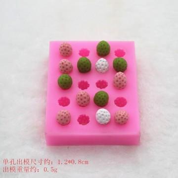 N72-20孔小草莓矽膠模