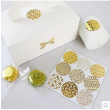 日本風燙金透明圓形貼紙(45枚)