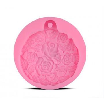 934-玫瑰花園圓片模(擴香石模具)