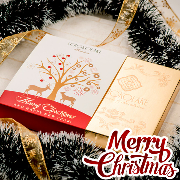 聖誕樹戀金12入禮盒-限量純手工巧克力