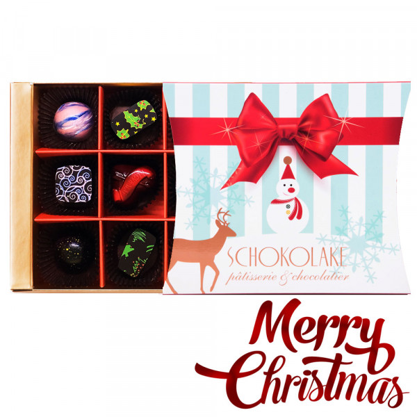 聖誕節限定雪人9入禮盒-限量純手工巧克力