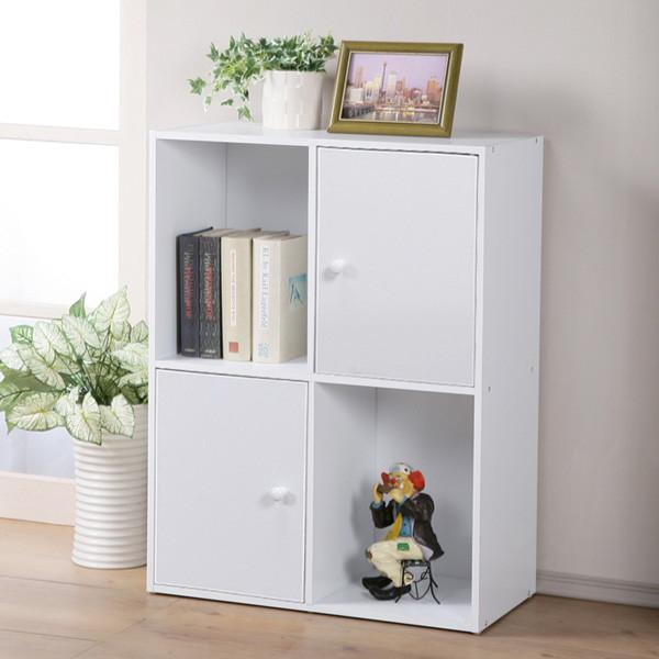 二層二門置物櫃 Yostyle 現代風二層二門置物櫃(三色)