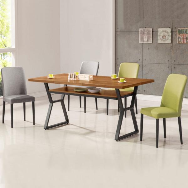 Yostyle 愛德琳工業風5尺餐桌椅組(一桌四椅)
