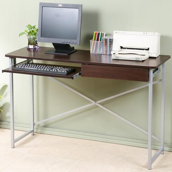 附抽電腦桌-寬120公分 Yostyle 超值附抽電腦桌-寬120公分(二色)